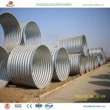Tubo galvanizado acanalado semi-círculo grande para la alcantarilla ferroviaria a México