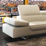 Sofá de couro de moda com canto (L025)