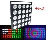 디스코 단계를 위한 25PCS*10W RGBW 4in1 LED 매트릭스 곁눈 가리개 빛