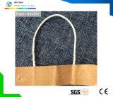 Asa de cuerda de yute papel de coco PP algodón de la bolsa de papel