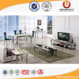 Sala de visitas moderna com a tabela de jantar de mármore do aço inoxidável das bancadas (UL-DC553)