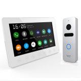 Home Security 7 pulgadas timbre de la puerta de intercomunicación de vídeo portero automático de la Memoria