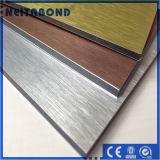 El panel compuesto de aluminio revestido incombustible aplicado con brocha anodizado de PVDF con precio de fábrica