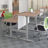 Escritorio Altura-Ajustable eléctrico del soporte en el cuero negro para el uso del oficina y del ordenador personal