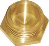 Hex de cobre amarillo Cap Fitting (A. 0211)
