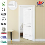 Porte en bois intérieure d'amorce plus blanche de moulage