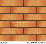 Azulejo partido de la arcilla para el ladrillo 60*240m m Rd6205 de la pared exterior