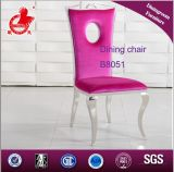 Spätester Entwurfs-berühmter Esszimmer-rosafarbener Gewebe-Stuhl B8051