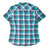 Kurze Hülsen-Form-Auslegung-Baumwolldame-Oberseiten-Bluse