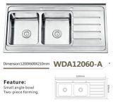 De Keuken wda12060-A van de Gootsteen van het roestvrij staal