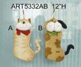 クリスマス猫および犬のストッキングのギフト2のAsstクリスマスのストッキング