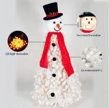 Albero di Natale bianco Charming artificiale all'ingrosso dei fiocchi di neve di volo del PVC con l'indicatore luminoso del LED