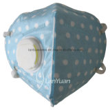 White Dots Pattern와 Valve를 가진 파란 Nonwoven Face Mask