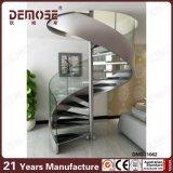 Prefabricada sala de estar espacio pequeño de vidrio Escaleras Precio (DMS-1062)