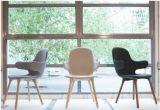 목제 다리 (LC019)를 가진 회색 직물 여가 의자