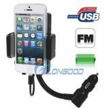 Automobile FM Transmitter per Smartphone per il iPhone 5 per Touch 5