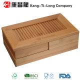 Boîte en bambou de papeterie ou d'organisateur