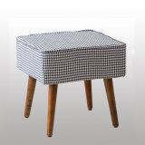 ホームデザインのための木製ファブリック椅子