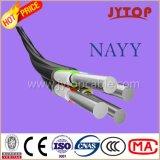 Câbles isolés par PVC en aluminium de câble de Yavv Nayy avec le conducteur en aluminium