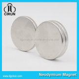 Покрынный цинком магнит неодимия NdFeB диска круглый