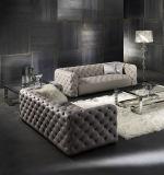 O couro genuíno do estilo americano adornou o sofá ajustado para a HOME (GLS-011)