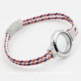 Form-lederne Armband-Schmucksachen mit sich hin- und herbewegendem Locket für Geschenk
