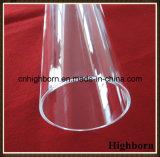 De grote Pijpleiding van het Glas van het Kwarts van het Kiezelzuur van de Grootte Duidelijke Gesmolten Oppoetsende