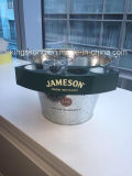 Beer galvanisé Bucket Highquality Galvanized Ice Beer Tin Bucket avec Cup Hold