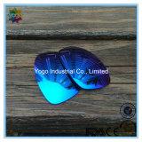 Поляризовыванные оптовые объективы Sunglass с голубым покрытием зеркала