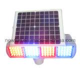 Blaue blinkende Solarverkehrs-Warnleuchte des Rot-LED