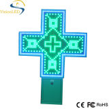 diodo emissor de luz Pharmacy Cross Sign de 3D Outdoor