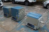 1600c de Oven van de Buis van het laboratorium met 100mm Alumina de VacuümFlenzen van de Buis & van het Roestvrij staal