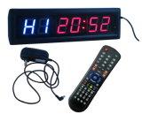 """1.8 """"6 cifre LED Intervallo di Clock, 2 LED blu più 4 LED rossi, regolare supporto della funzione sveglia, conto alla rovescia / up, funzione cronometro e Fitness Interva"""