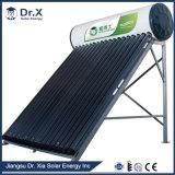 Sistema de aquecimento solar doméstico 100liter de água da placa lisa