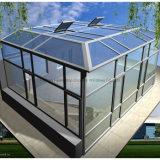 Sunroom d'alliage d'aluminium avec le verre trempé creux (arrêt temporaire complet)