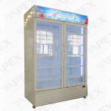 Lockable одиночный холодильник индикации двери, охладитель индикации напитка супермаркета чистосердечный