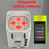 4PCS 10W RGBWA紫外線LED電池のWireless&WiFiの同価ライト