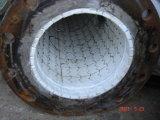 Haute pipe en acier revêtue en céramique résistante à l'usure