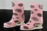 Ботинки дождя PVC для женщин, ботинка дождя способа высокой пятки