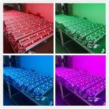 luz ao ar livre da arruela da parede do diodo emissor de luz da iluminação 18PCS RGB de 60cm