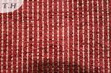 빨간색에 있는 2015년 폴리에스테 털실 염색된 자카드 직물 소파 직물