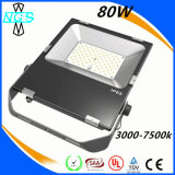 옥외 LED Lamp Floodlight IP65 80W LED Flood Lighting