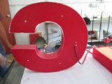 De geborstelde 3D Dimensionale LEIDENE van het Metaal Stainlessteel Verlichte Rode Brief van het Kanaal