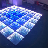 Glass Tempered Portable Interactive LED Dance Floor Light 3D Infinity Dance Floor