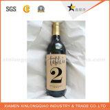 工場習慣は付着力のペーパーワイン・ボトルのステッカーのラベルを型抜きした