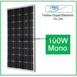Mono comitato solare 100W per la centrale elettrica domestica