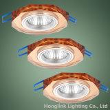 팔각형 다채로운 훈장 유리에 의하여 중단되는 천장 LED Downlight 정착물