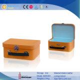 Grande conter a caixa de armazenamento de empacotamento do presente de couro do Zipper (1515R2)