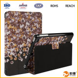 Caixa esperta de couro da tabuleta do plutônio para a mini tampa do iPad com carrinho (SP-MYM315)