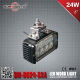 6 luce di azionamento quadrata del lavoro dell'automobile di pollice 24W LED (SM-6024-SXA)